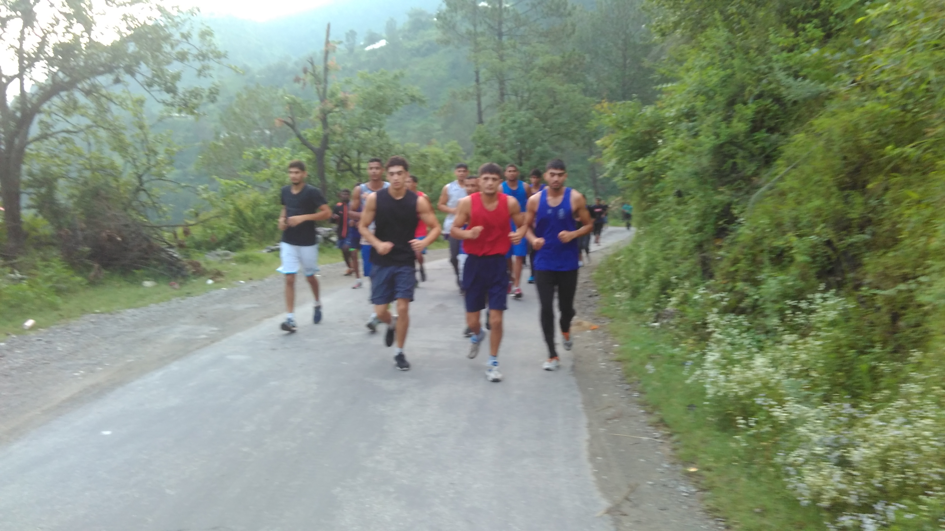 Sports Authority of India National Boxing Academy Rohtak's Trainees During Their Cross Country Run to Chail-3