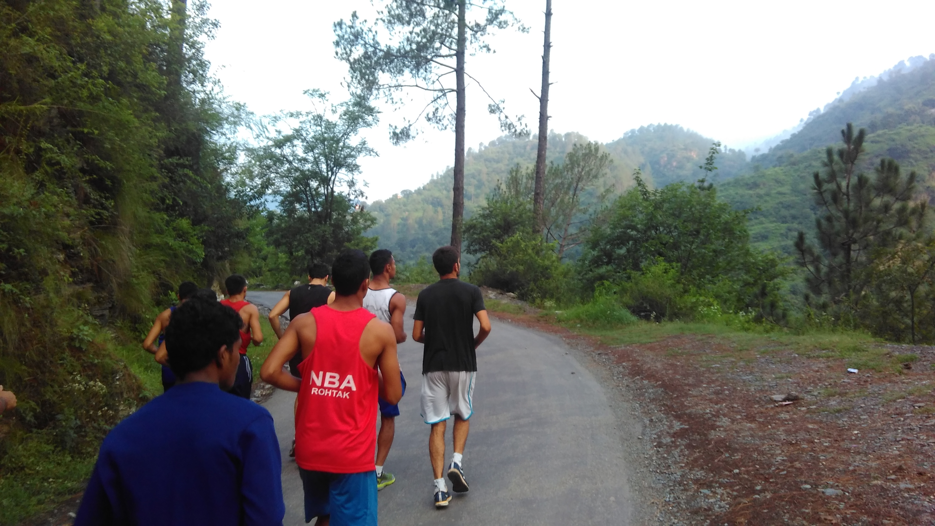 Sports Authority of India National Boxing Academy Rohtak's Trainees During Their Cross Country Run to Chail