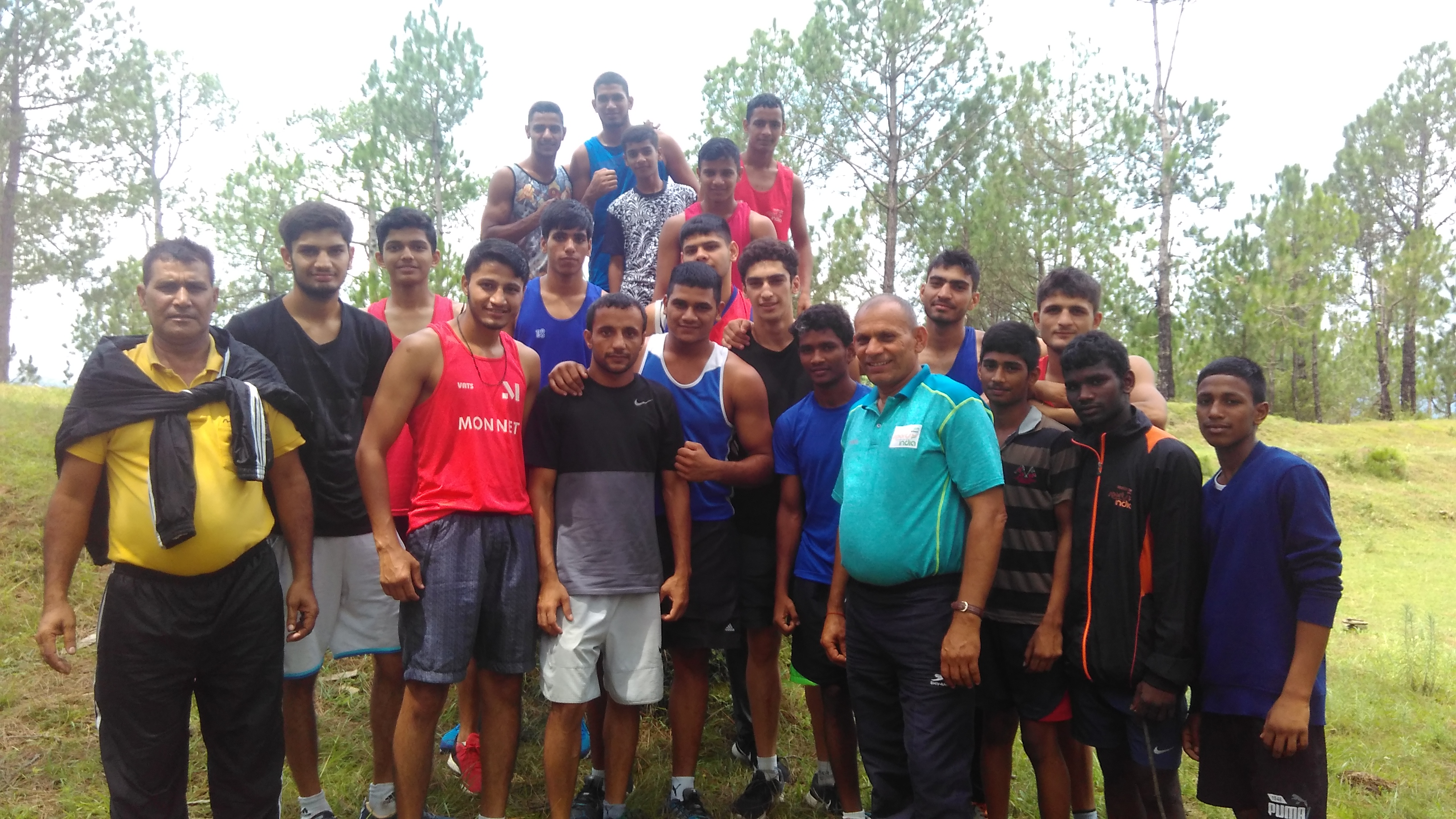 Sports Authority of India National Boxing Academy Rohtak's Trainees During Trakking in Mountains of Chail